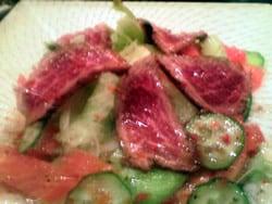 近江牛のたたきのサラダ