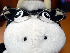 メガネ装着・・・