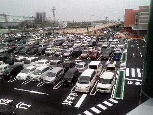 駐車場の入り