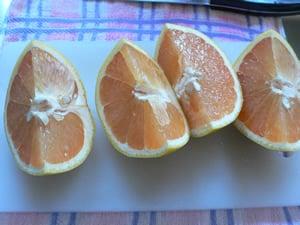 グレープフルーツ4等分