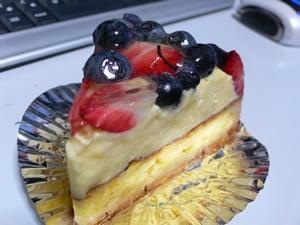 ブルーベリーのタルトケーキ
