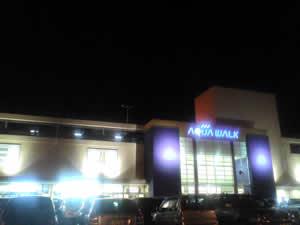 夜のアクアウォーク大垣