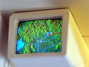 飛行経路の映像
