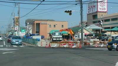 交差点の改良工事