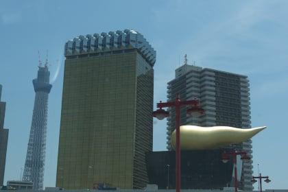 東京スカイツリーとアサヒビールタワー