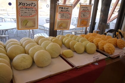川島ハイウェイオアシスのメロンパン