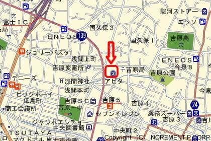 アピタ富士吉原店の地図
