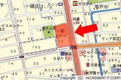 ピアゴ蟹江店の地図