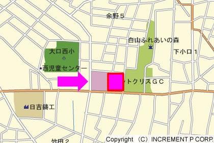 カネスエ大口店の地図の写真