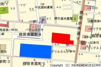 バロー各務原中央ショッピングセンターの地図