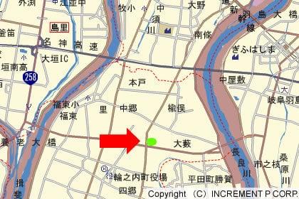 メガマート輪之内店 地図