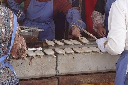 JAにしみの農業祭の五平餅