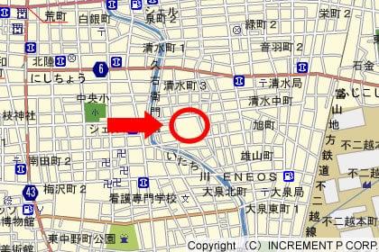 バロー清水町店の地図の写真