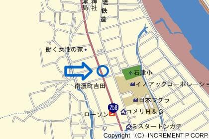 ゲンキー南濃店の地図の写真