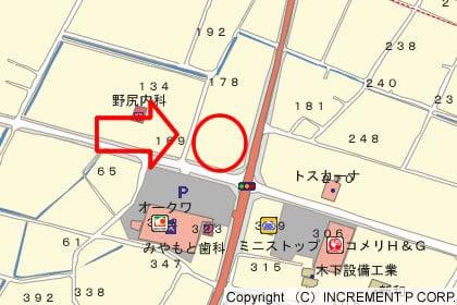 ゲンキー下米田店 の地図