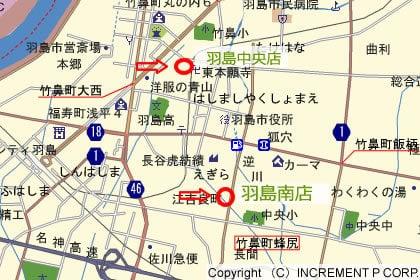 Vドラッグ羽島南店の地図の写真