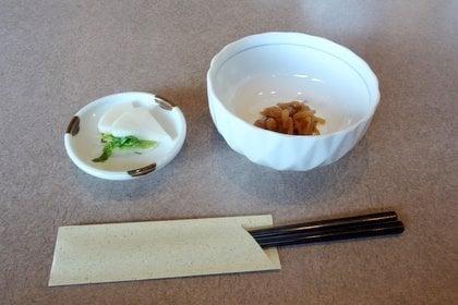 味噌カツランチの前菜