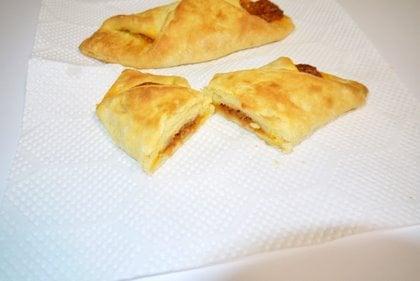 チルドベーカリー焼きたてミートパイ 完成の写真