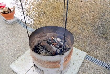 恵那 銀の森 たき火の写真