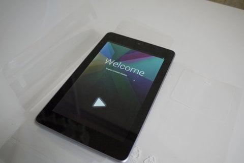 Nexus 7の初期設定の写真