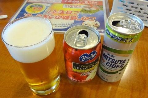 アサヒビールの試飲の写真