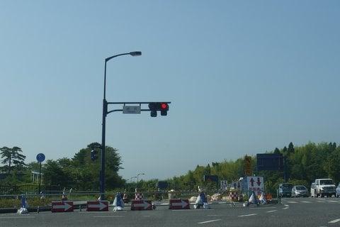 国道6号線の修復工事の写真