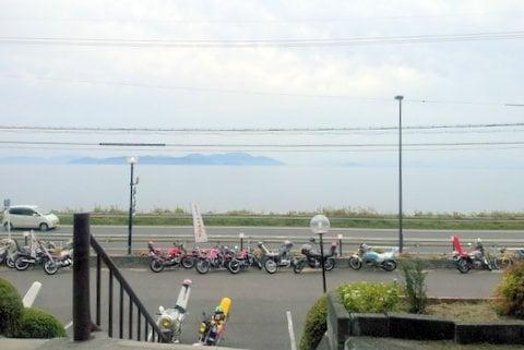 春夏秋冬から見える琵琶湖の写真