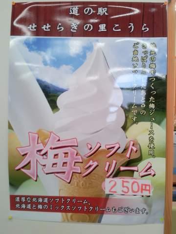 梅ソフトクリームの写真