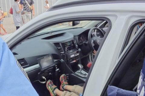 パトカーの車内の写真