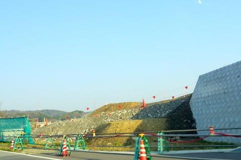 額田ICの工事の写真