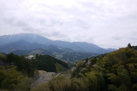 馬籠宿からの風景の写真