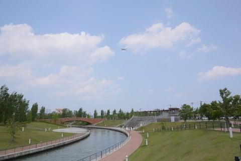 富山空港からの飛行機の写真