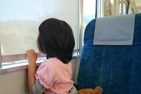 電車の移動中の写真