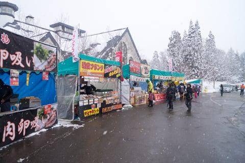 食べ物の売店の写真