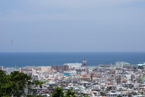 嘉数高台公園から見える風景の写真