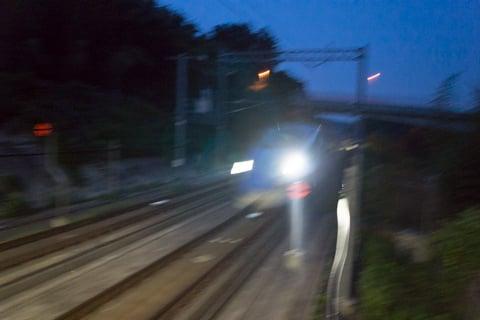 安中榛名駅からの北陸新幹線の写真