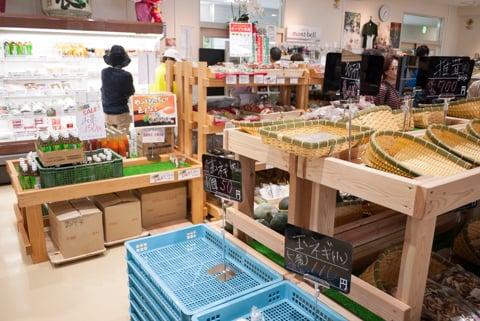 道の駅「奥永源寺 渓流の里」の売店の写真
