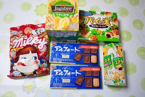 駄菓子屋さんの購入品の写真