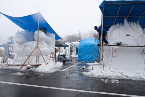 郡上たかす雪まつりの雪像の写真