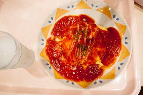 オムライストマトソースの写真