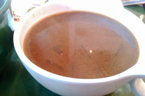 八丁味噌入り野菜の味噌汁の写真
