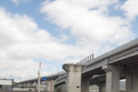 栗東水口道路と1号線の接続の写真