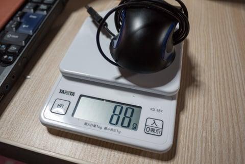 今まで使っていたマウスの重量の写真