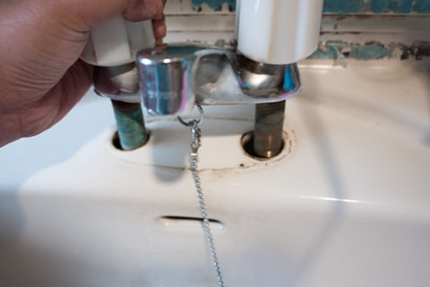 水栓の取り外しの写真