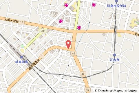 ファミリーマート羽島ふなばし店の地図の写真
