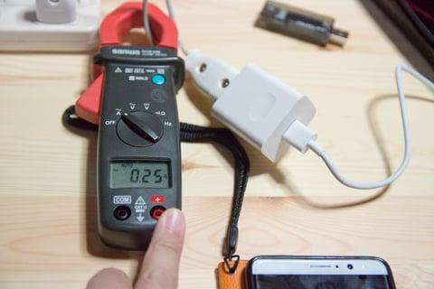 充電の測定の写真