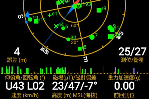GPSの様子の写真