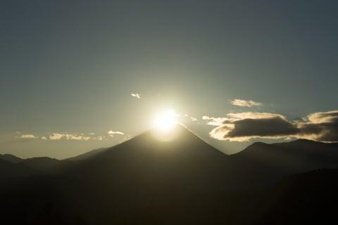 ダイアモンド富士の写真