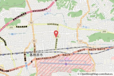 ローソン各務原蘇原新栄町店の地図の写真